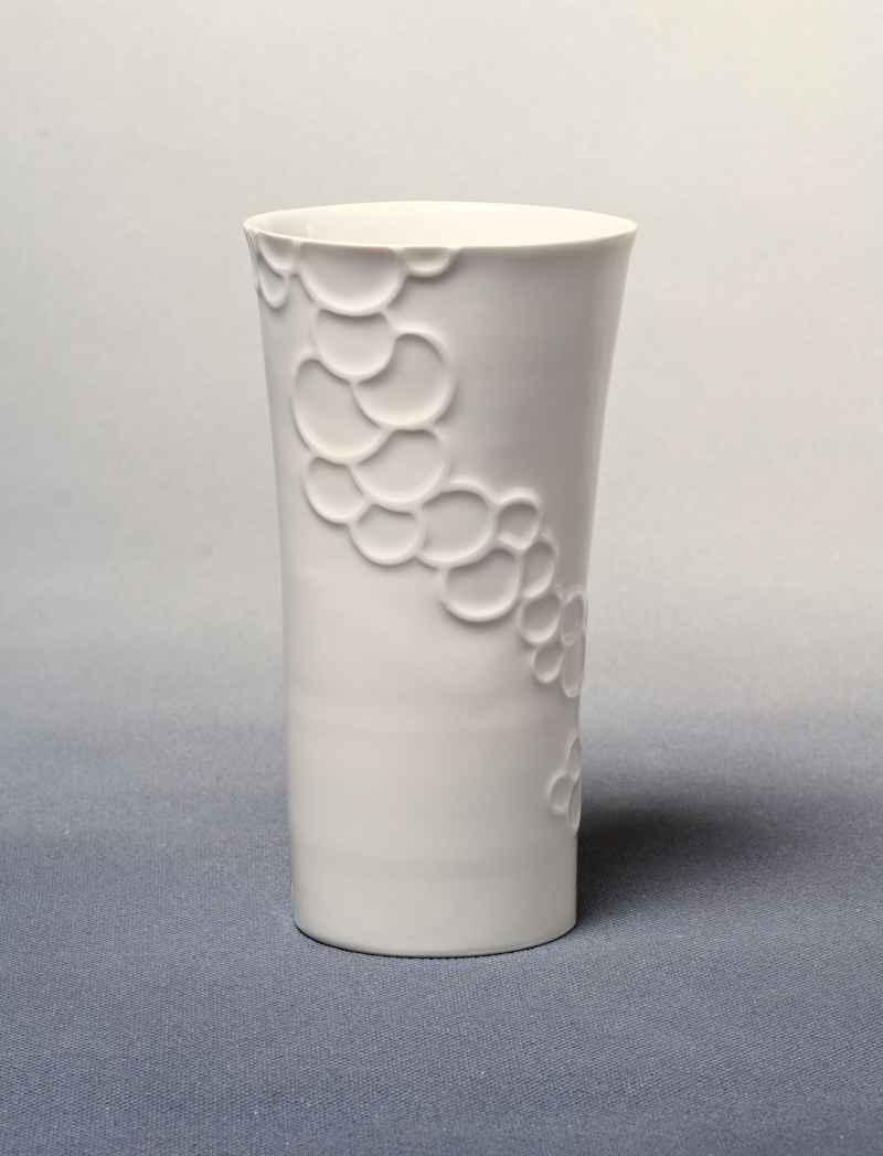 """Vase Porzellan mit Dekor """"Bubbles"""""""