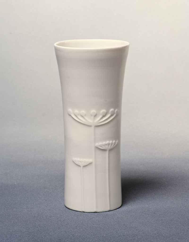 """Vase Porzellan mit Dekor """"Dolde"""""""