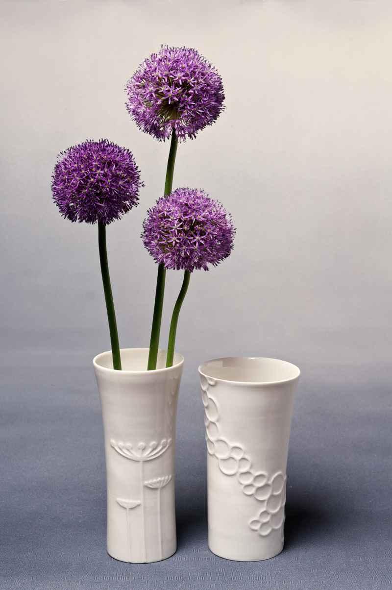 Vasen Porzellan mit Blumen